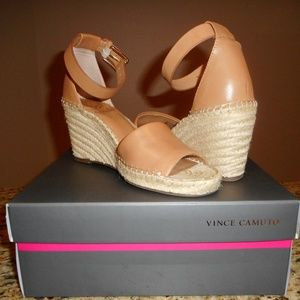 Vince Camuto Leera Tan Leather Size 8M